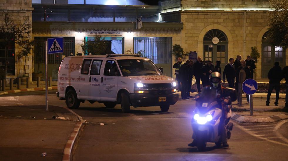 זירת פיגוע הדריסה בירושלים