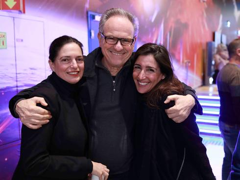 . איריס נשר, אבי נשר, ולירון אדרי, מנהלת מערך ההפצה של סרטיי יונייטד קינג