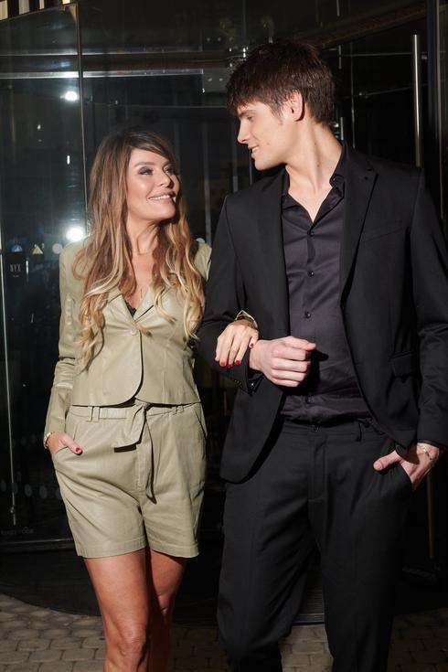אביבה תבורי ואנטון דוידסון ביום הצילומים במלון NYX תל אביב