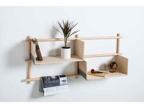 "Foldin shelves, מחיר 1,000 שקלים. להשיג בלהשיג בסטודיו Prat Living- החשמל 4 - ת""א ובאתר www.pratliving.com"