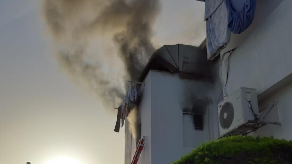 שריפה בדירה בפתח תקוה