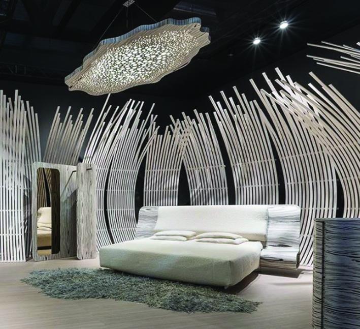מערכת שינה בעיצוב רוס לאבגרוב, שבה נעשה שימוש בעץ אורגני, בהליך ייצור אקולוגי. נטוצי