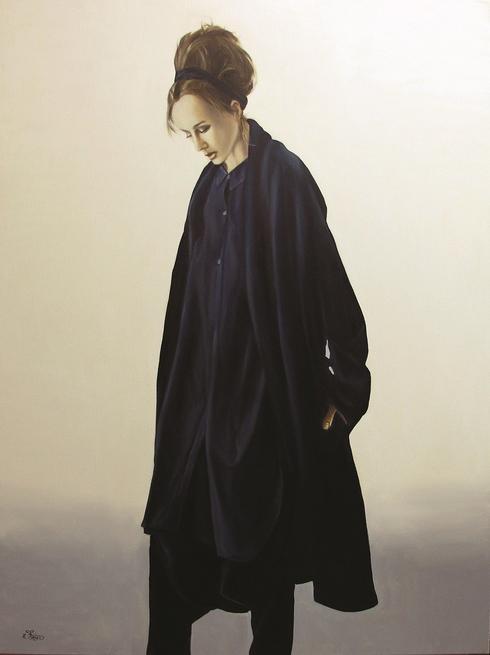 היצירה האישה בשחור של האמן איתן פריד, להשכרה ולקנייה דרך נויה - אמנות ישראלית מקורית