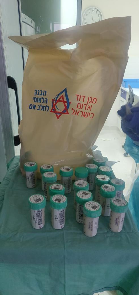 מנות חלב בטוחות בבנק הלאומי לחלב אם של מגן דוד אדום