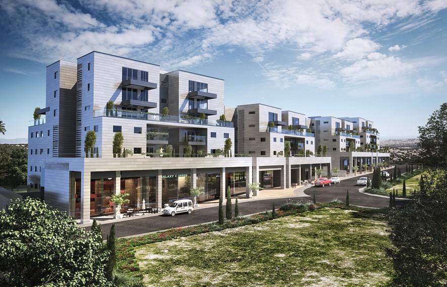 •הדמיית פרויקט מגורים ומסחר MORE מורשת במודיעין