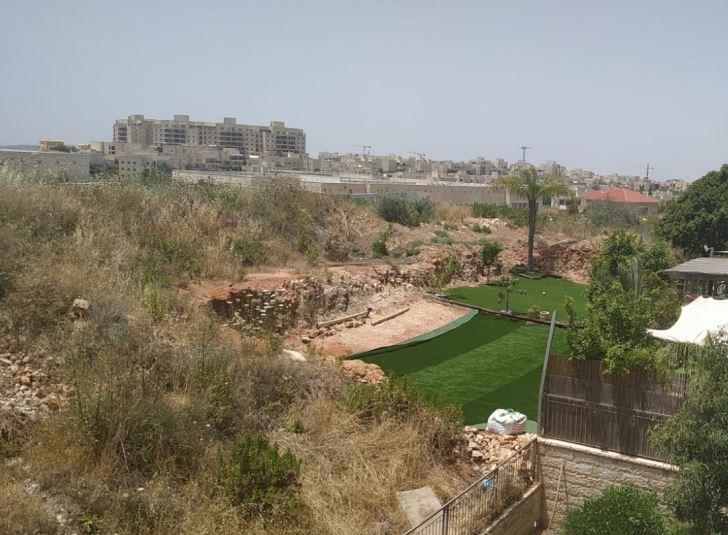 הגינה שהתפתחה על הגבעה
