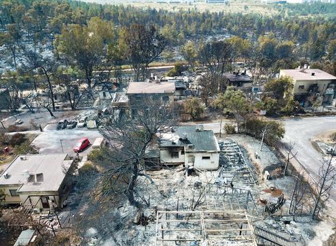 השריפה במאי 2019. רוב בתי היישוב עלו באש