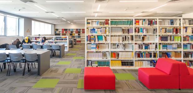 הספריה המרכזית, עזריאלי מכללה אקדמית להנדסה ירושלים