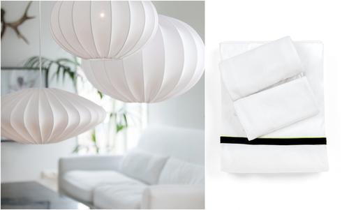 כלי מיטה זוגיים מבמבוק bamboo&co, מנורות prhome ellips כלי אור