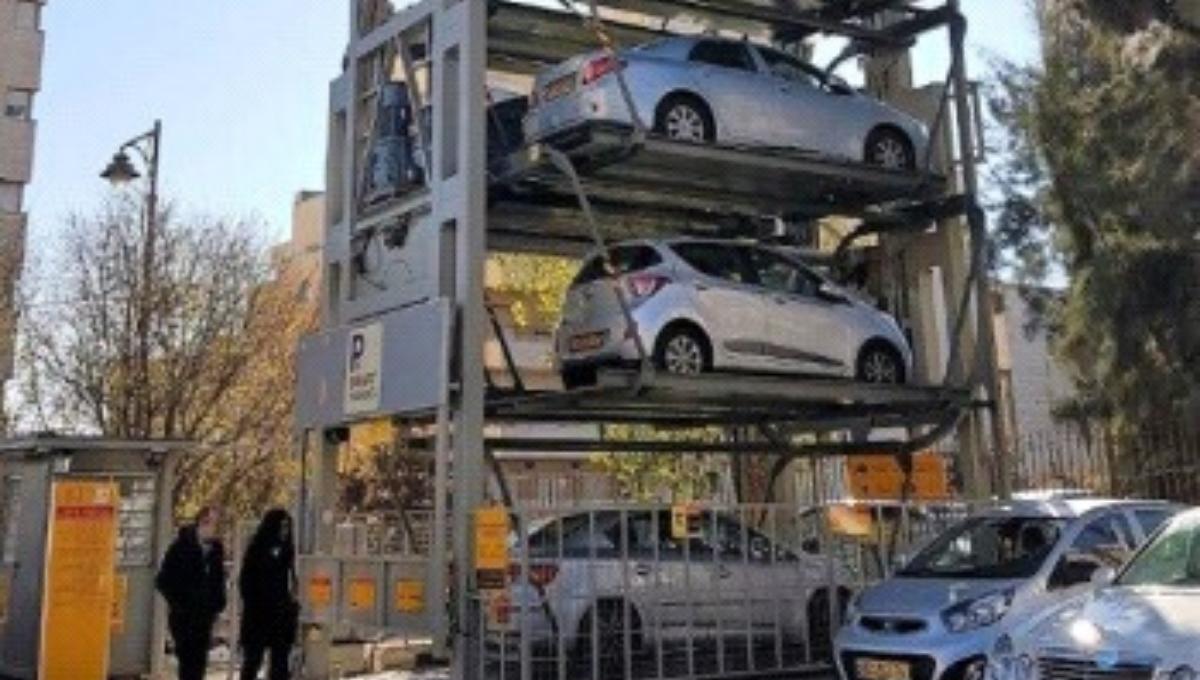 מתקן חניה מדגם קרוסלה