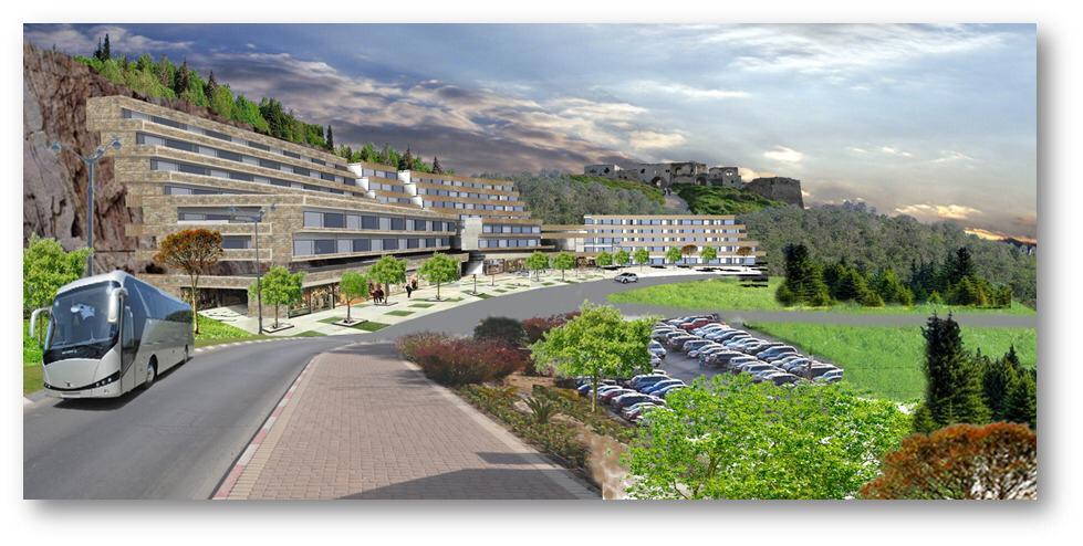 הדמיית המלון החדש בראש העין