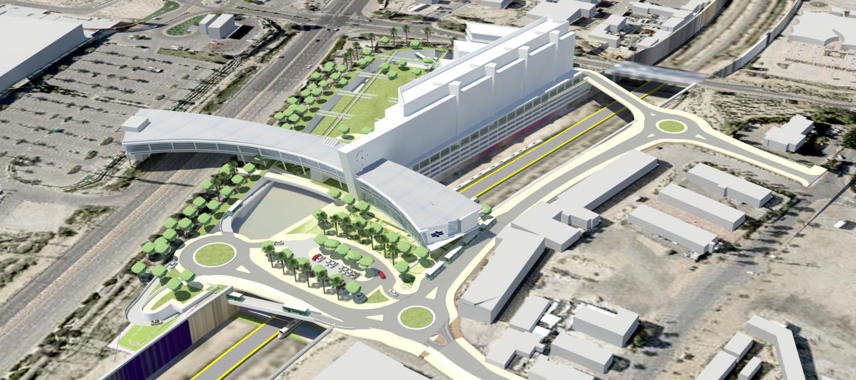 הדמיית המרכז החדש בדימונה