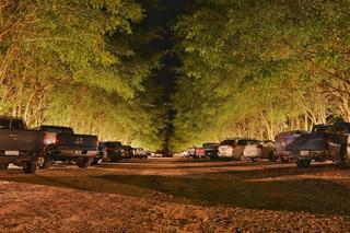רכבים חונים בלילה