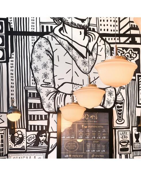 גלידריית לה גופרה, תל אביב. עיצוב ותכנון פנים: B.L.E בראשי לנדס אשד אדריכלות ועיצוב פנים