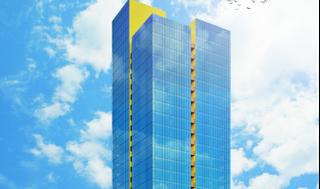 הדמיית המגדל החדש בקריית אריה