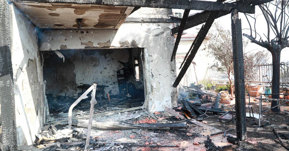 בית המשפחה לאחר השריפה
