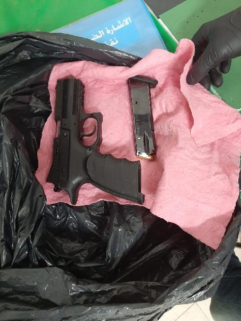 האקדח שנתפס בגן הילדים
