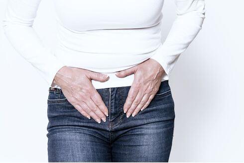 כאב בטן אישה