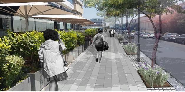 הדמיה עתידית של רחוב השחם