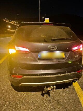 המכונית שנגנבה ונתפסה ליד אריאל
