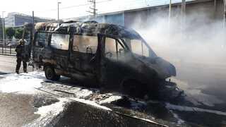 רכב ההסעות השרוף
