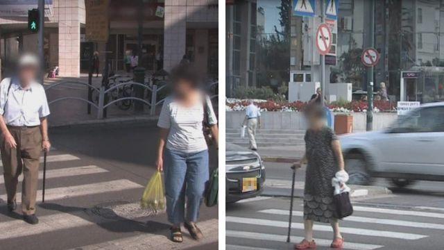 קשישים בכבישי העיר