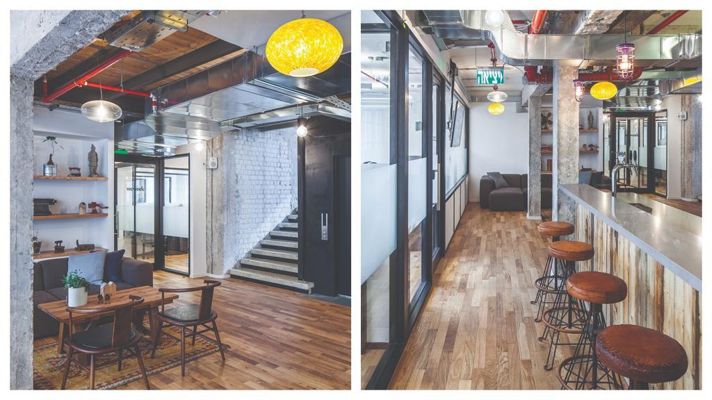מתחם עבודה: WE WORK. אדריכלות: לווין-פקר אדריכלים. עיצוב: ורד גינדי . צילום: אביב אברג'יל.