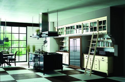 מטבח בסגנון תעשייתי של המותג Marchi Cucine.  להשיג בפנטהאוז רהיטים