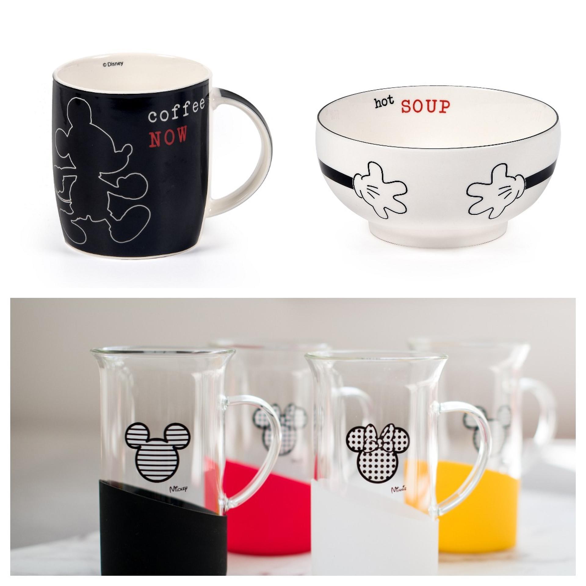למעלה: קערה ומאג ב FOX HOME. צילום: אפרת אשל. למטה: סט כוסות זכוכית, נעמן. צילום: תמי בר שי