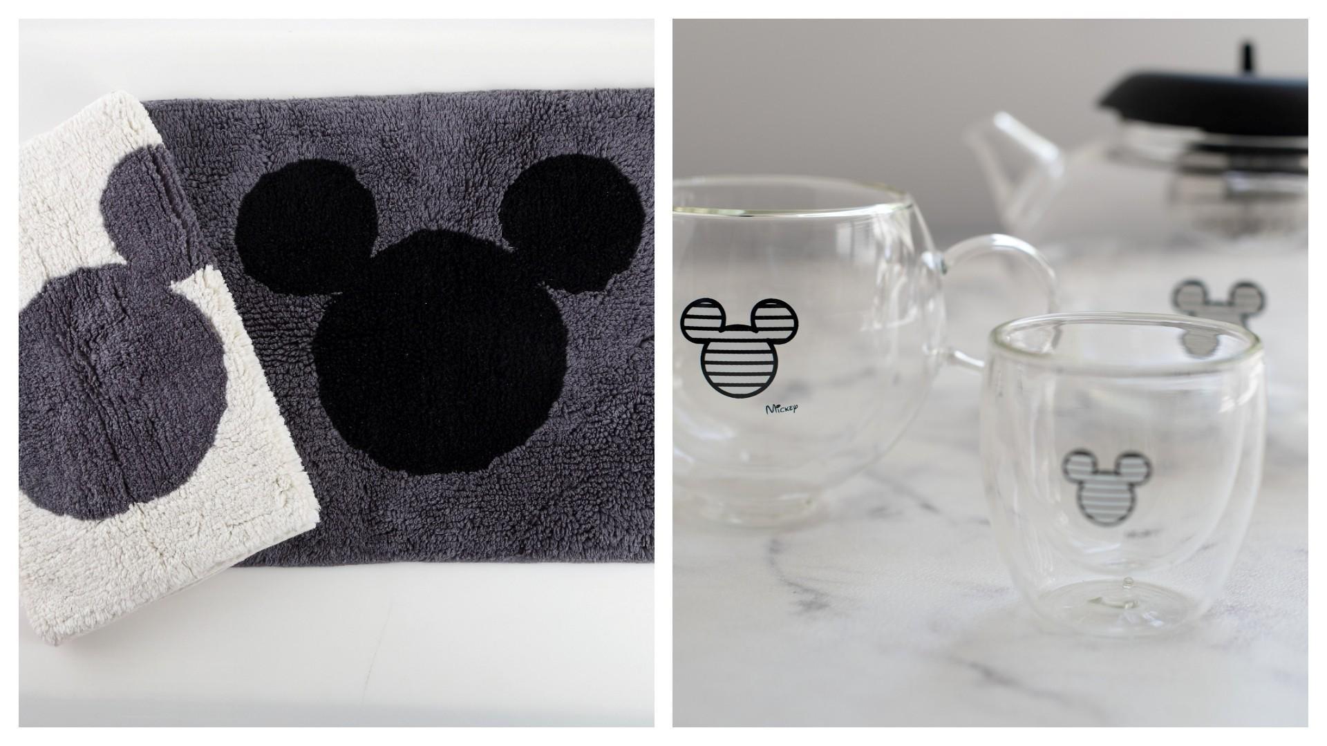 מימין: קנקן תה וכוסות קפוצ'ינו, נעמן. צילום: תמי בר שי. משמאל: שטחי אמבט, ורדינון. צילום: שירה רז.