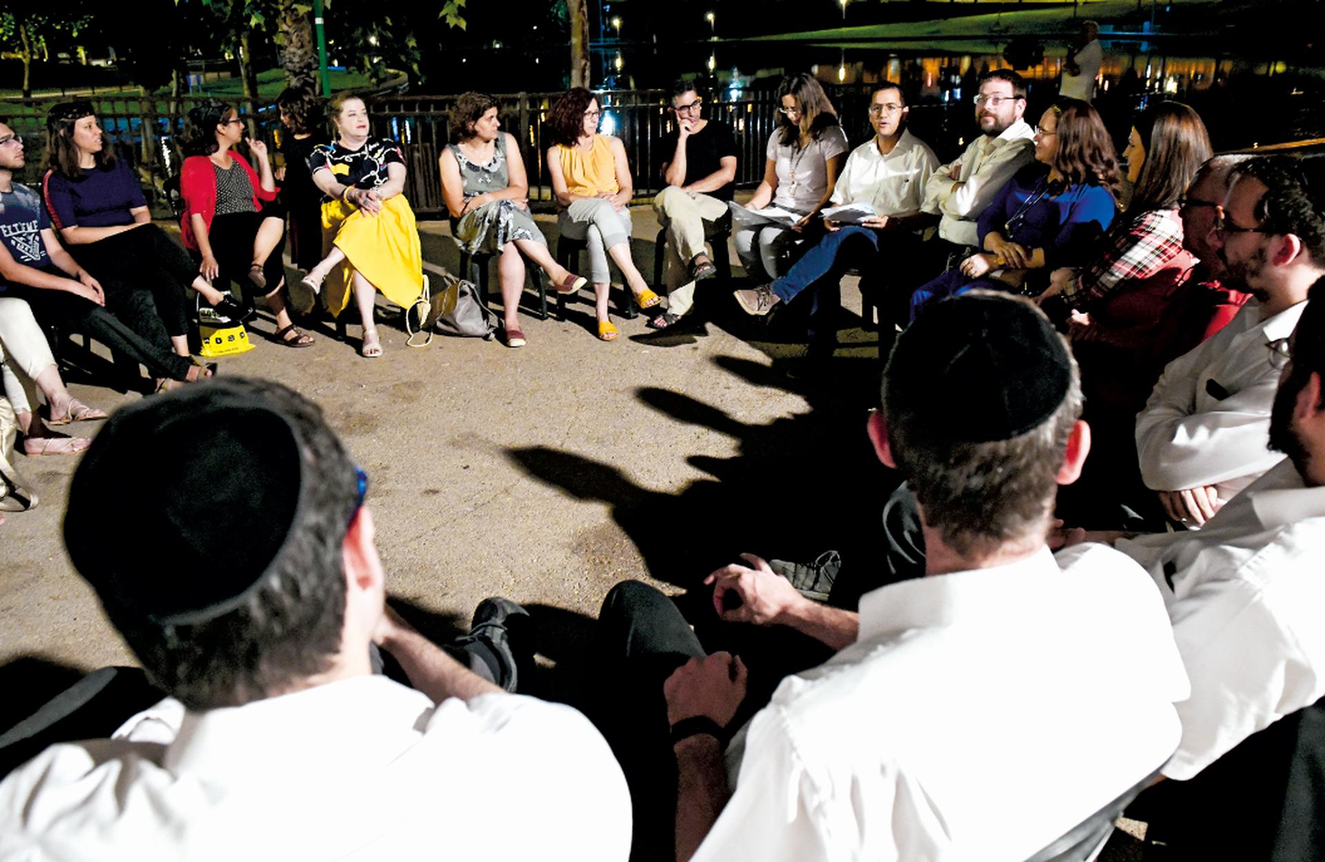 המפגש בפארק ענבה. צילום: חורחה נובומינסקי