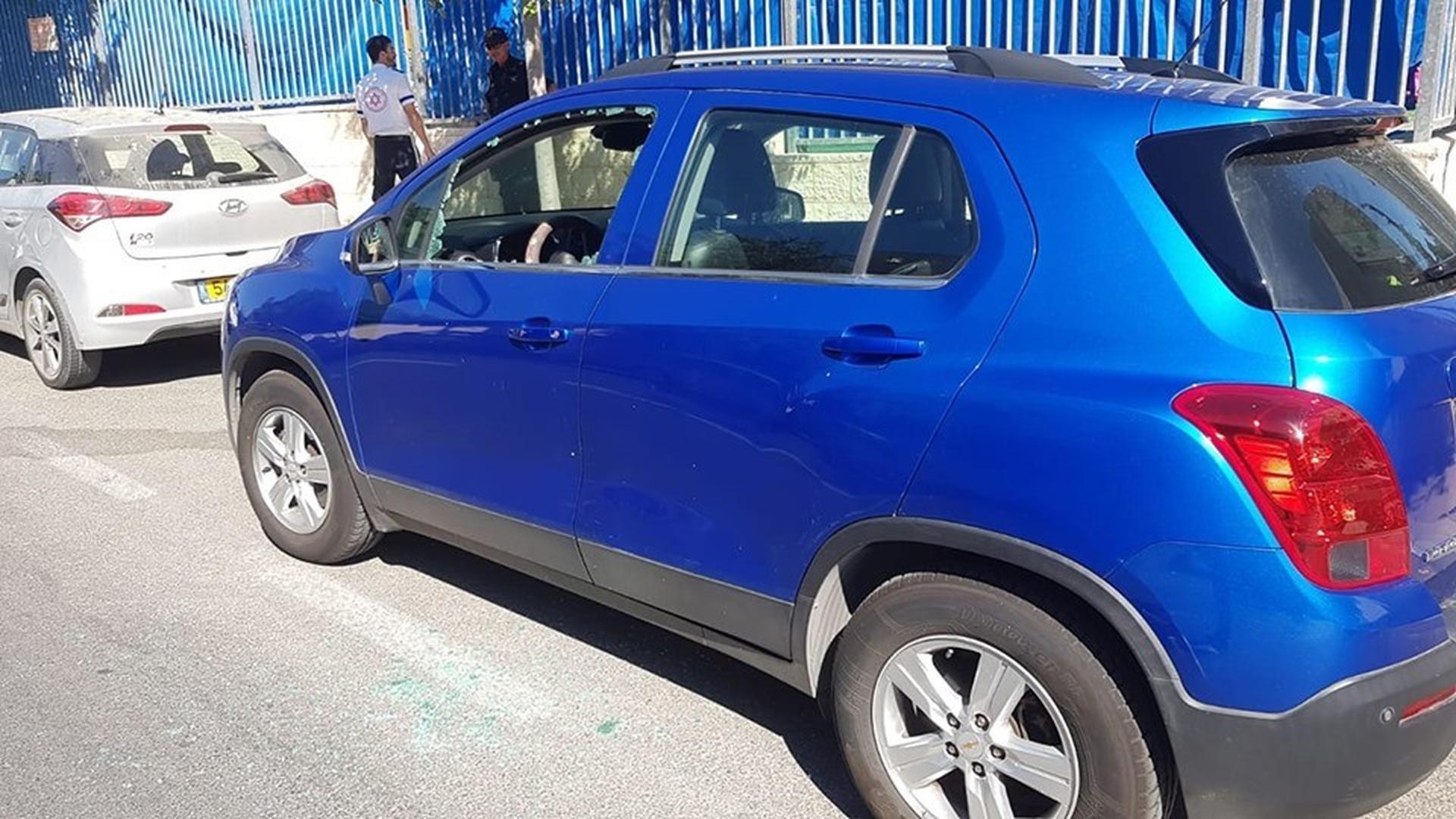 הרכב שבו ננעל הילד   צילום: דוברות איחוד הצלה מודיעין