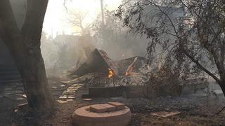 שריפה במבוא מודיעים. צילום: כבאות והצלה
