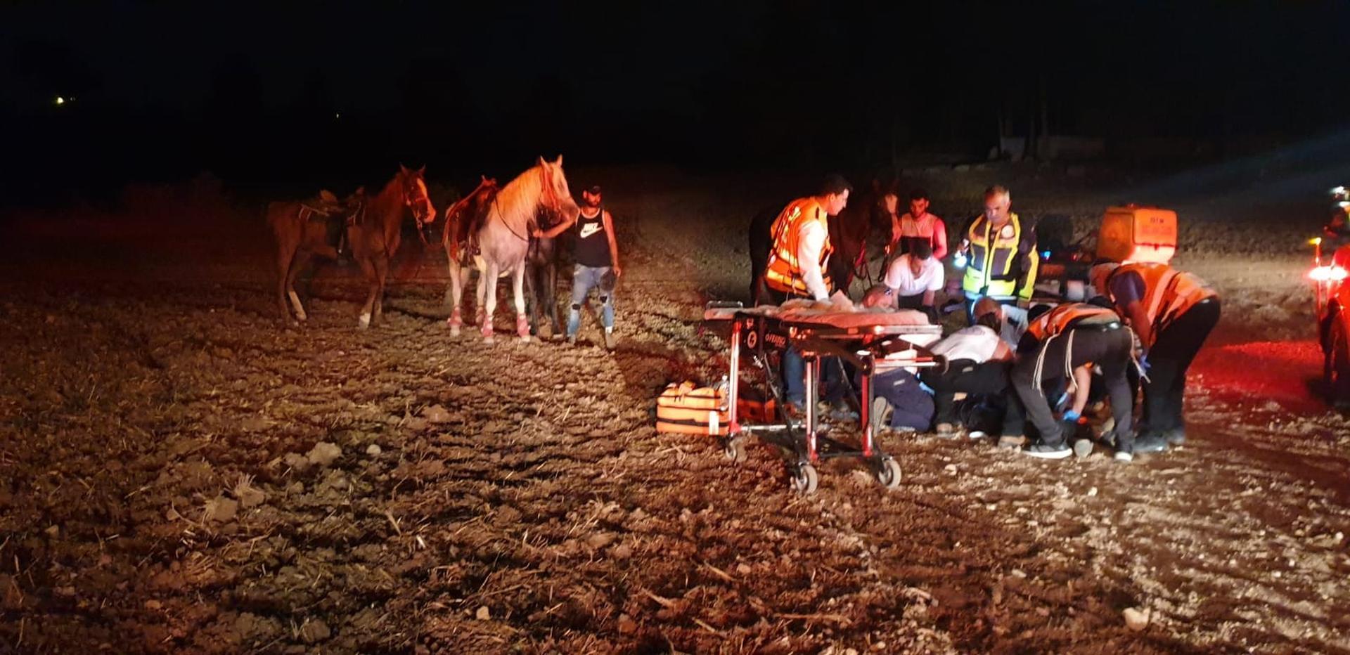 מזירת האירוע ביער בן שמן | צילום: דוברות איחוד הצלה