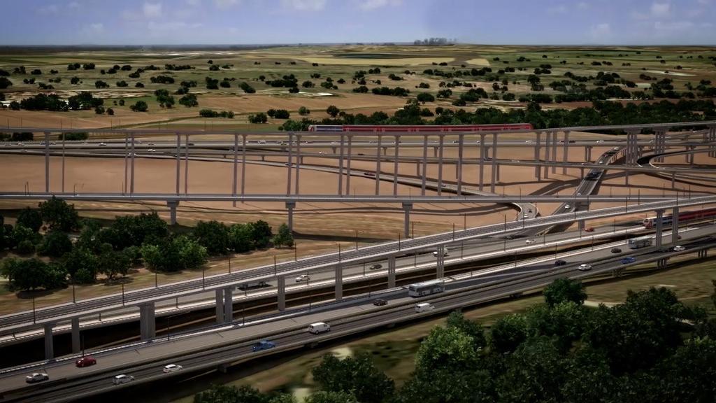 המחלף שייבנה מעל מחלף ענבה   צילום: אגף הביצוע של רכבת ישראל ו-New age media