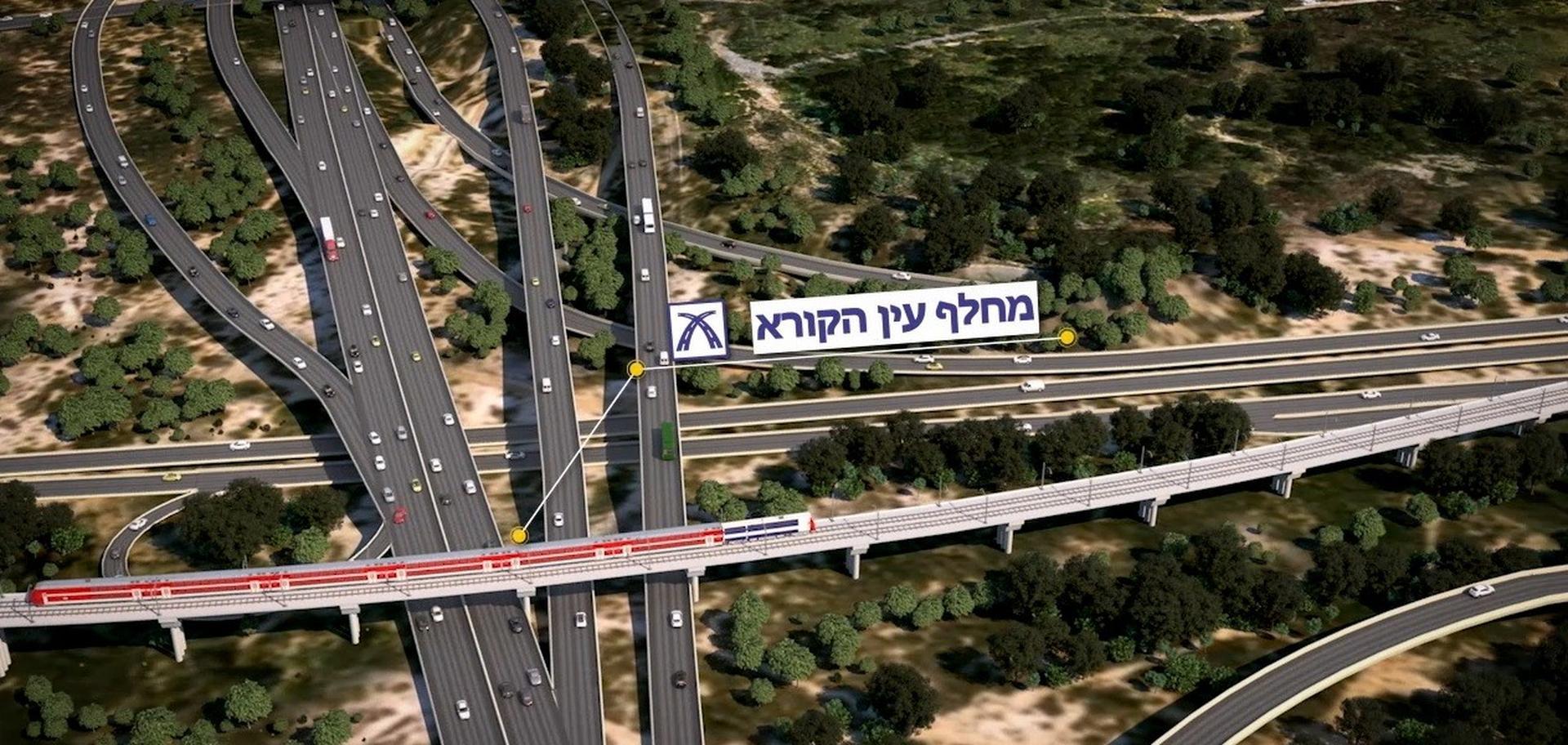 גשר הרכבת הארוך ביותר בישראל סמוך לתחנת הראשונים   צילום: אגף הביצוע של רכבת ישראל ו-New age media