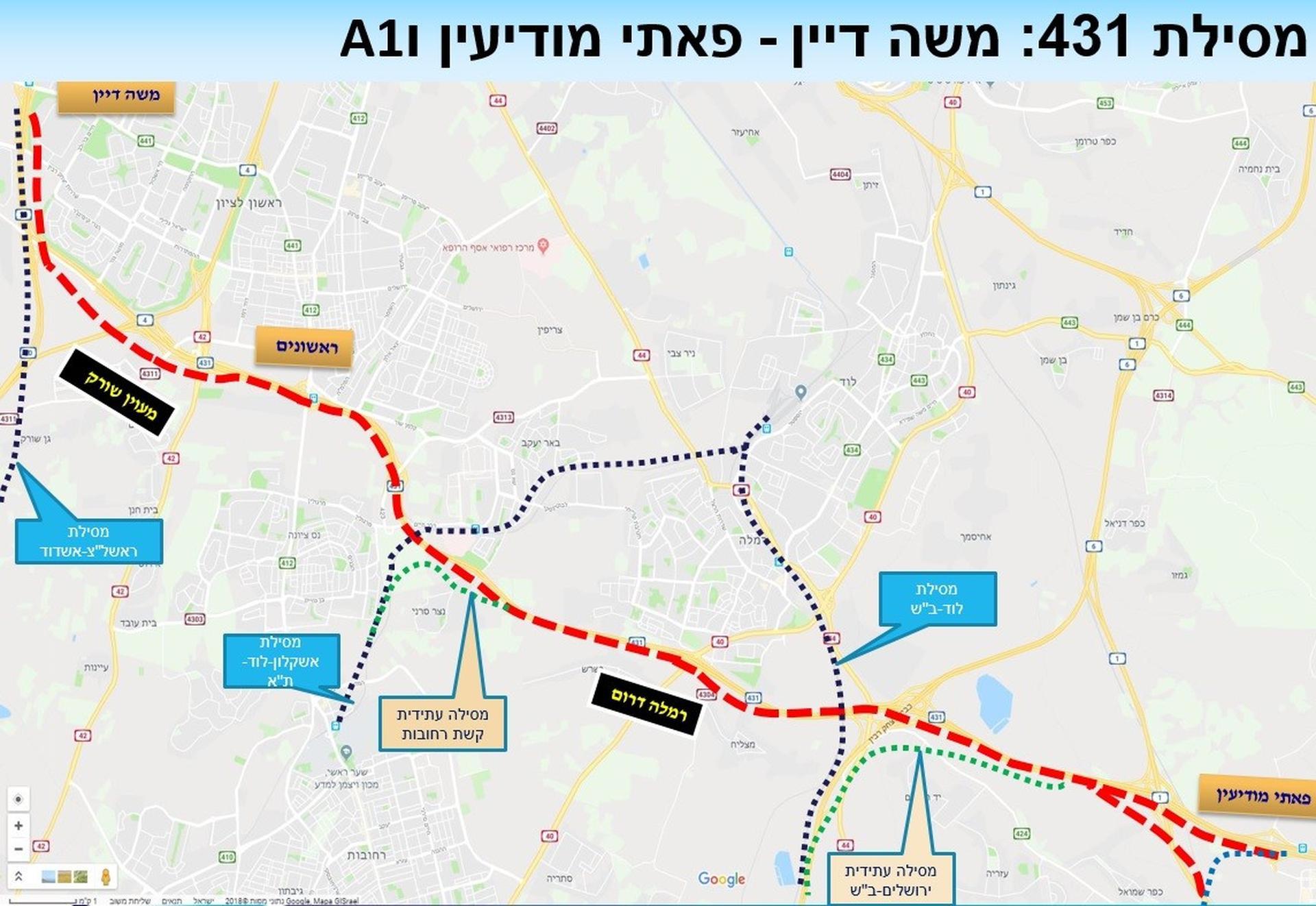 תואי הפרויקט   צילום: דוברות רכבת ישראל