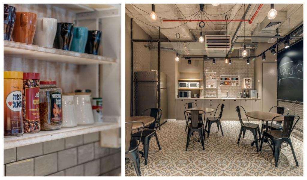 המטבחון הסטנדרטי הפך לבית קפה. צילום: ליאור טייטלר