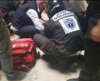 מהתאונה במודיעין   צילום: מתנדבי איחוד הצלה סניף מודיעין